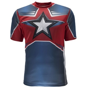 póló Spyder Men's Marvel S / S Tech Tee Captain America 179208-402, Spyder