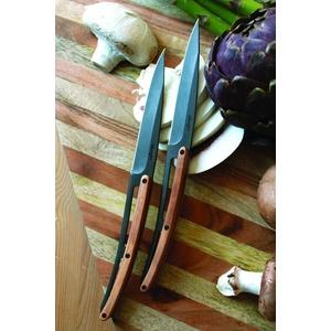 Deejo készlet 6 steakových kés, titán felületi blades, olíva faipari 2FB001, Deejo