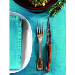 Deejo készlet 6 steakových kés, titán felületi blades, olíva faipari, design 'virágdovod' 2FB010, Deejo