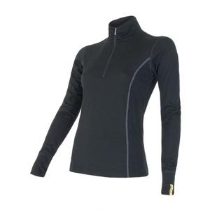 Női póló Sensor Merino Wool Active fekete 11109018