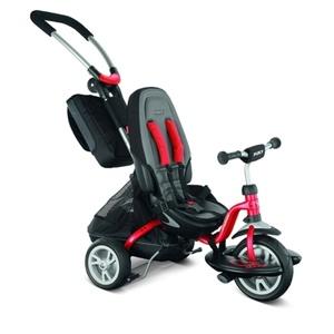 Gyermek háromkerekűjével PUKY CAT S6 CEET  irányadó rudak piros 2403, Puky