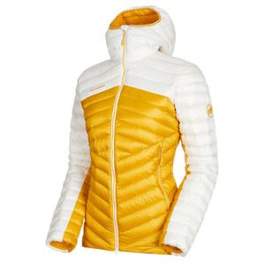 Női dzseki Mammut Széles Peak IN Hooded Jacket Women aranysárga fényes white 1247, Mammut