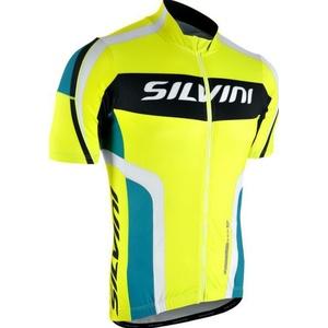 Férfi kerékpáros mez Silvini Lemmy MD603 neon-óceán, Silvini