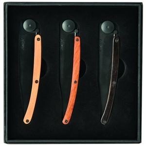 Deejo készlet 3 kés Wood Black 37G DEE041, Deejo