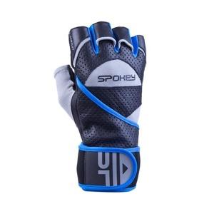 Fitness kesztyű Spokey vágányfonódás II fekete-kék, Spokey
