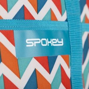 Strand thermo táska Spokey ACAPULCO kék cikcakkos, 39 x 15 x 27 cm, Spokey