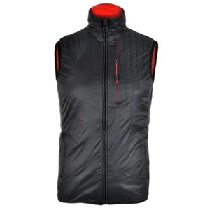 Férfi mellény Silvini TICINO MJ1104 black-red, Silvini