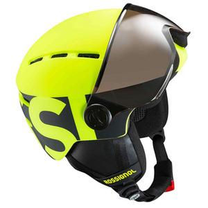 Ski sisak Rossignol Visor Jr-neon sárga / fekete RKGH500, Rossignol