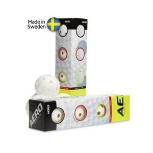 Készlet floorball balls Salming Aero Ball 4-pack White, Salming