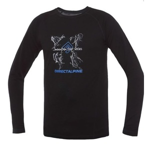 póló Direct Alpine Furry Long black (tevékenység), Direct Alpine