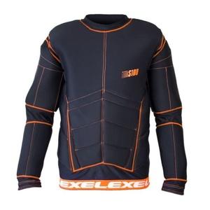 Golmanský mez EXEL S100 VÉDELEM SHIRT black/orange, Exel