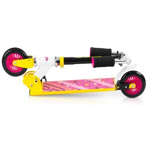 Robogó Spokey DUKE görgők 125 mm, sárga-pink, Spokey