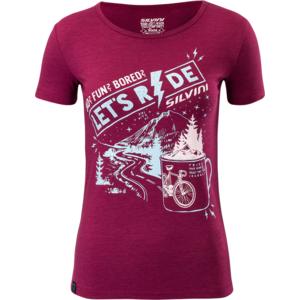 Női kerékpáros póló Silvini Pelori WD1630 punch, Silvini
