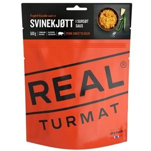 Real Turmat sertéshús  rizs  savanyú szósz, 127 g, Real Turmat