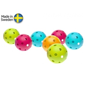 Készlet floorball balls Salming Aero Ball 10-pack, colour mix, Salming