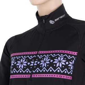 Női póló Sensor THERMO fekete / pattern 17200060, Sensor