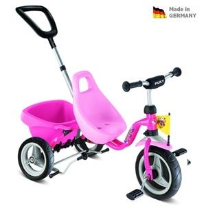 Gyermek piros háromkerekűjével Carry Touring Tipper CAT 1 S pink 2325, Puky