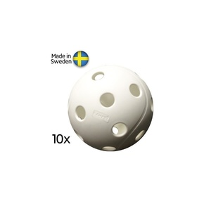 Készlet floorball balls Salming X3M Campus Ball, 10-pack, White