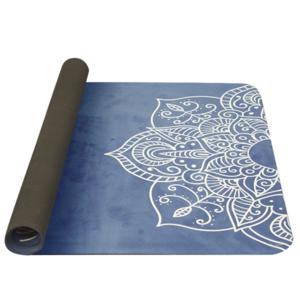 Mosó  jóga YATE jóga sakk és matt természetes gumi / minta C / kék, Yate